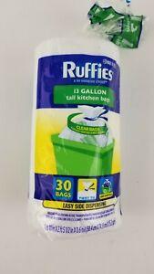 Ruffies 13 Gallon Clear Tall Twist Tie Kitchen Bags Roll Of 30