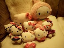 "YOU PICK TY HELLO KITTY SANRIO 4"" - 11"" NO HEART TAG NICE USED COND GLASSES BOWS"