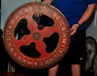 Vintage Red Painted Carnival Wheel