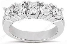 14k White Gold Ring 5 x 0.35 ct 1.75 carat Gia Round Diamond G Vvs Wedding Band