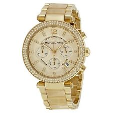 Michael Kors Parker Chronograph Midsized Gold Acetate MK5632 Watch