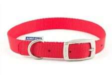 Ancol Heritage Nylon Dog Collar Red 19mm X35-43cm Sz 4