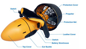 Diving Sea Scooter Waterproof Pro Dual Speed SafetyProp / 6kmh AU#