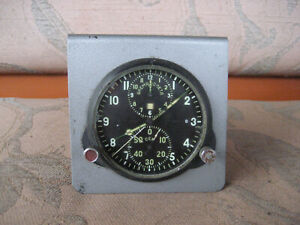 AChS-1 Military Air Force Aircraft Cockpit Clock MIG. Made in USSR. АЧС-1