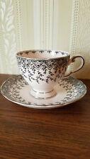 Tuscan Tea Cup and Saucer, Bone China, England, Pink, Teacup