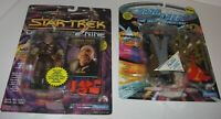 2 LOT of Playmates Star Trek Figures Gowron Morn Next Gen Deep Space FREE Shippg