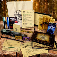 Personalised Christmas Wand Harry Potter Box Set Framed Marauders Map Quill Bag