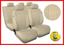 CAR SEAT COVERS full set fits VW Volkswagen Passat Universal - beige (MG3)