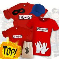 T-Shirt Panzerknacker Kostüm Shirt Verkleidung Set Karneval Fasching Kinder