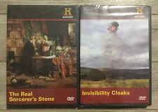 Real Sorcerer's Stone & Invisibility Cloaks 2 DVD Lot History Channel