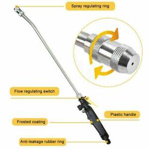 High Pressure Power Washer Water Spray Gun Nozzle Set Garden Hose Wand Car Wash