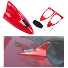 Red Solar Power Led Light Decorative Shark Fin Dummy Antenna for Car Suv