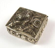antike Pillendose 925er Silber Rosendekor innen vergoldet? 2,7 x 2,5 cm
