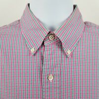 Ralph Lauren Custom Fit Pink Green Check Men's L/S Dress Button Shirt Sz 15.5/M