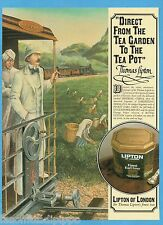 AIRONE982-PUBBLICITA'/ADVERTISING-1982- LIPTON TEA - FINEST EARL GREY