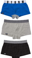 3 x Storm London Boxer Shorts Hipsters ~Brand New with Tags~ Over 60% Off