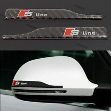 New Audi S Line Wing Mirror Protective Decal Logo Emblem Badge Rear Carbon Fiber
