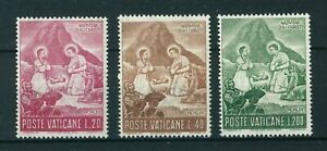 Vatican 1965 Christmas full set of stamps MNH Sg 464-466