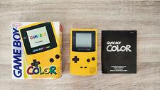 Nintendo Game Boy Color Yellow Mint Original Box and Manual