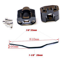 "28MM 1 1/8"" Handle Bar taper Fat Bar Risers Mount Clamp Dirt Bike ATV Quad"