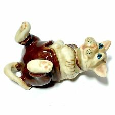MINIATURE LAYING HIPSTER CAT STATUE CERAMIC ANIMAL FIGURINE COLLECTIBLES DECOR