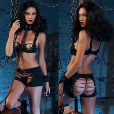 Erotic Sexy Lingerie Lace up Bondage Fetish nightwear MINI FANCY DRESS 2990 S-L