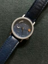Akteo Watch Astronomy Blue Leather Band
