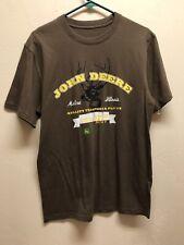 New John Deere Tractors Mens Size Medium M Brown T-Shirt