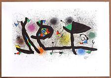 "Joan Miró ""Abstract""  Original Lithograph 1974"