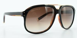 DSQUARED2 Sonnenbrille DQ 0005 05F 59-14 135 Schwarz Braun Silber Pilot c2009