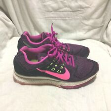NIKE ZOOM STRUCTURE 18 RUNNING SHOES  BLACK PURPLE PINK SIZE 8 WOMEN