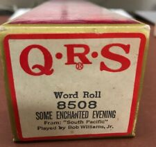 """Q.R.S. Word Roll 8508 """"Some Enchanted Evening"""" From: South Pacific Bob Williams"""