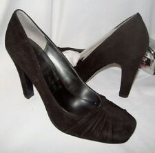 Nine West Size 9 Black Suede Heels New Womens Shoes