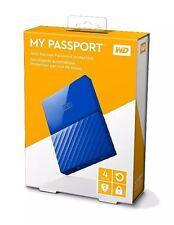 WD 4TB Passport Ultra-My Portable USB 3.0 Hard Disk Esterno Backup automatico Blu