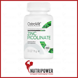 OstroVit Zinc Picolinate 150 Tabs | Hair Nails Skin Support Highly Bioavailable
