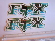 "TWO - 6"" FOX RACING Murphys GREEN MX Head Mountain ride Bike Frame Sticker Decal"
