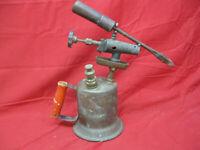 Antique Vintage Gasoline Blow Torch with Original Soldering Iron