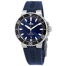 Oris Aquis Blue Dial Automatic Mens Rubber Watch 01 733 7730 4135-07 4 24 65EB