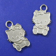 10pcs Tibetan silver hello KITI CAT beads H0171