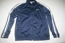 Nike Sweat Athletic Jacket Men L Navy NEW