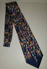 ALYNN NECKWEAR Marathon Runners Multicolored Silk Tie