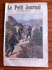 ?2)Le petit Journal illustré 28/06/1896; Arrestation d'un espion Italien