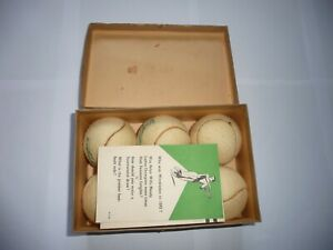 Scarce Box of Six Official Wimbledon 1947 Slazenger Lawn Tennis Balls