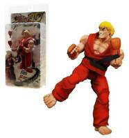 """Street Fighter IV Ken (Red Outfit) 7"""" Action Figure Video Game Capcom"""