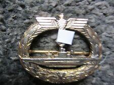 WW2 GERMAN NAVY KRIGSMARINE U-BOAT BREAST BADGE **  1970's REPRO  **