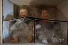 Rachel & Ryan Twins Porcelain Dolls, by Jennifer Schmidt, Danbury Mint