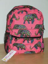 Pink Elephant Canvas Style Mini Backpack Green Blue Red Brand New Package