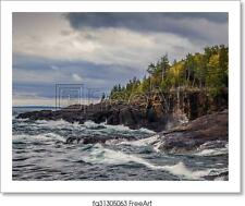 Lake Superior Coast Art Print / Canvas Print. Poster, Wall Art, Home Decor