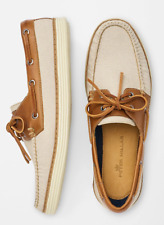 Peter Millar Seaside Washed Canvas Boat Shoes