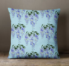 S4Sassy Decorative Blue Floral Print Home Decor  Cushion  Square Pillow Cover